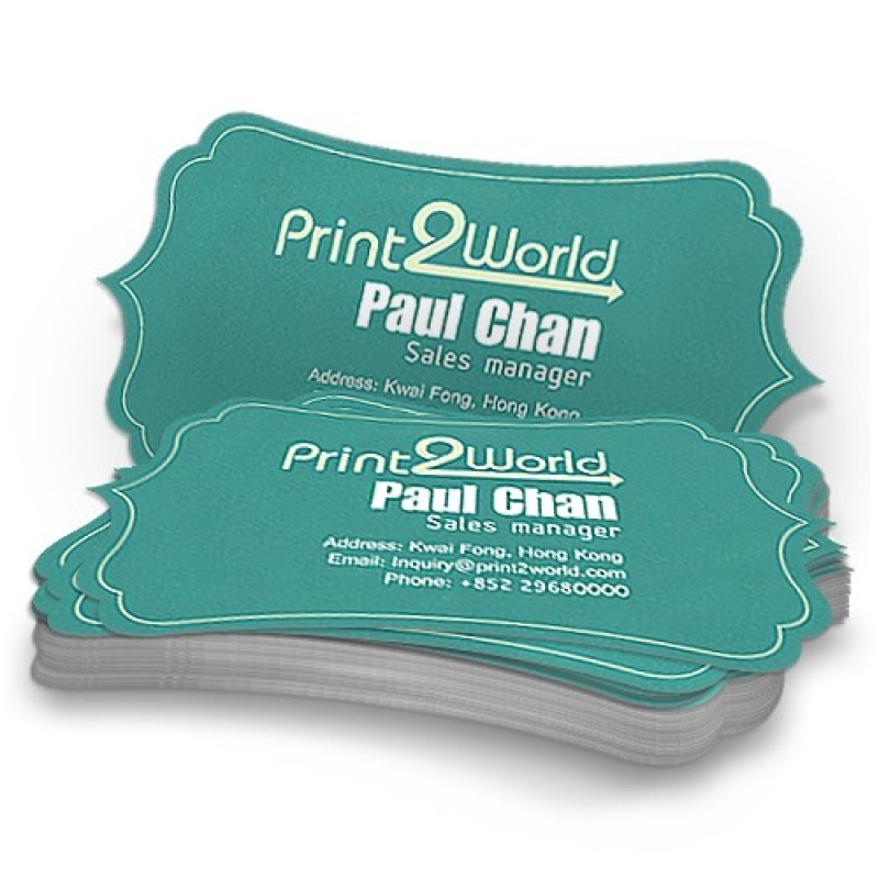Die-Cuted Business Cards