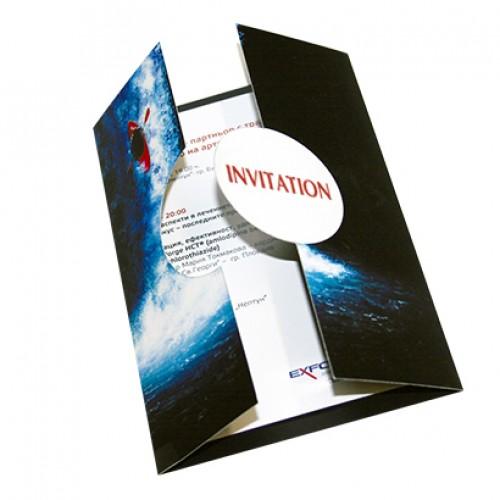 Folded Die-Cut Invitation Cards